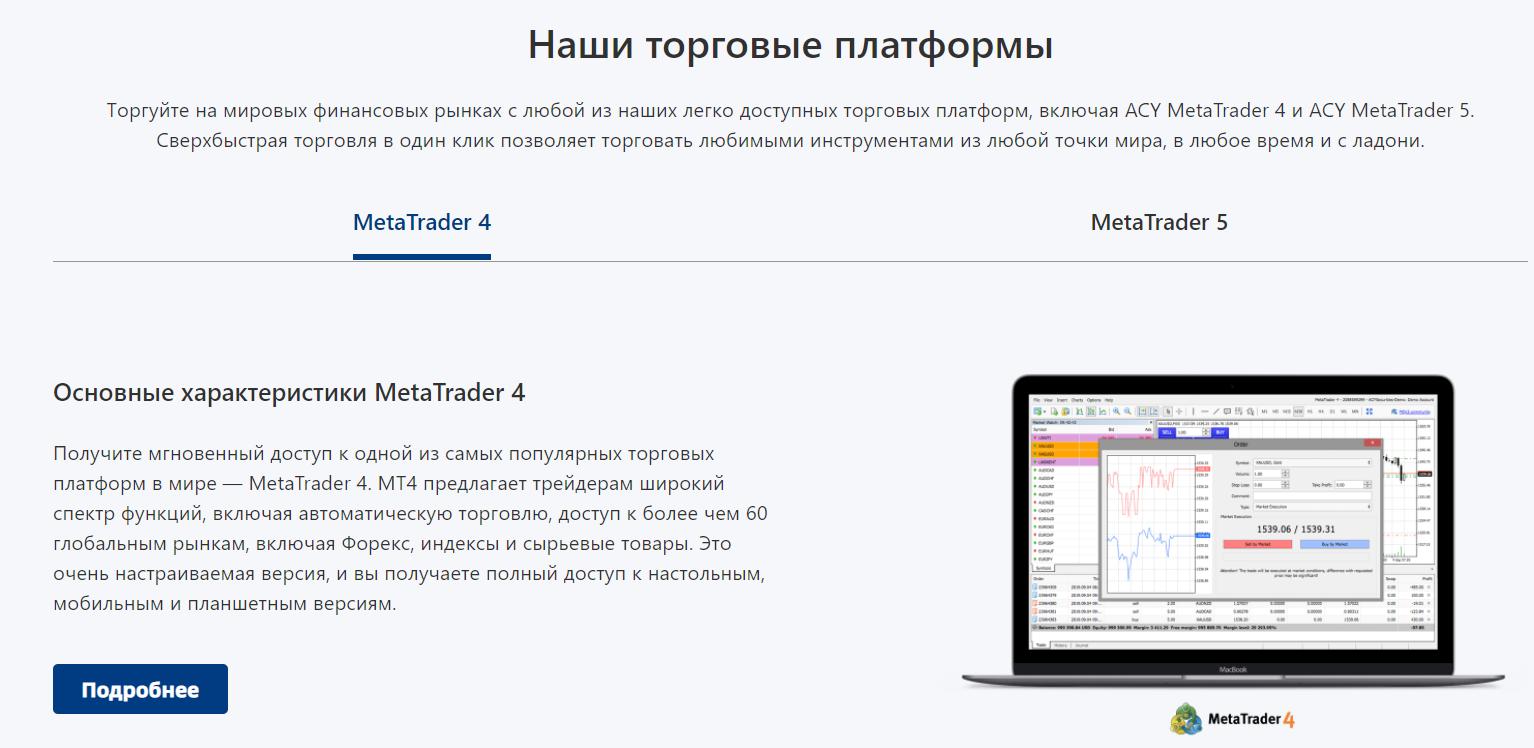 acy securities торговые платформы брокера