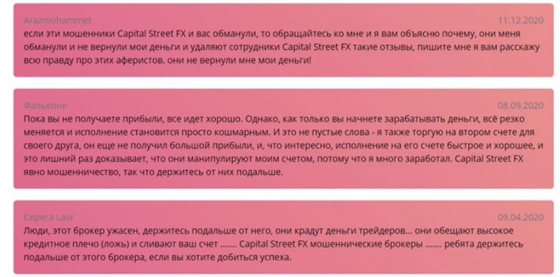 capital street fx отзывы и жалобы