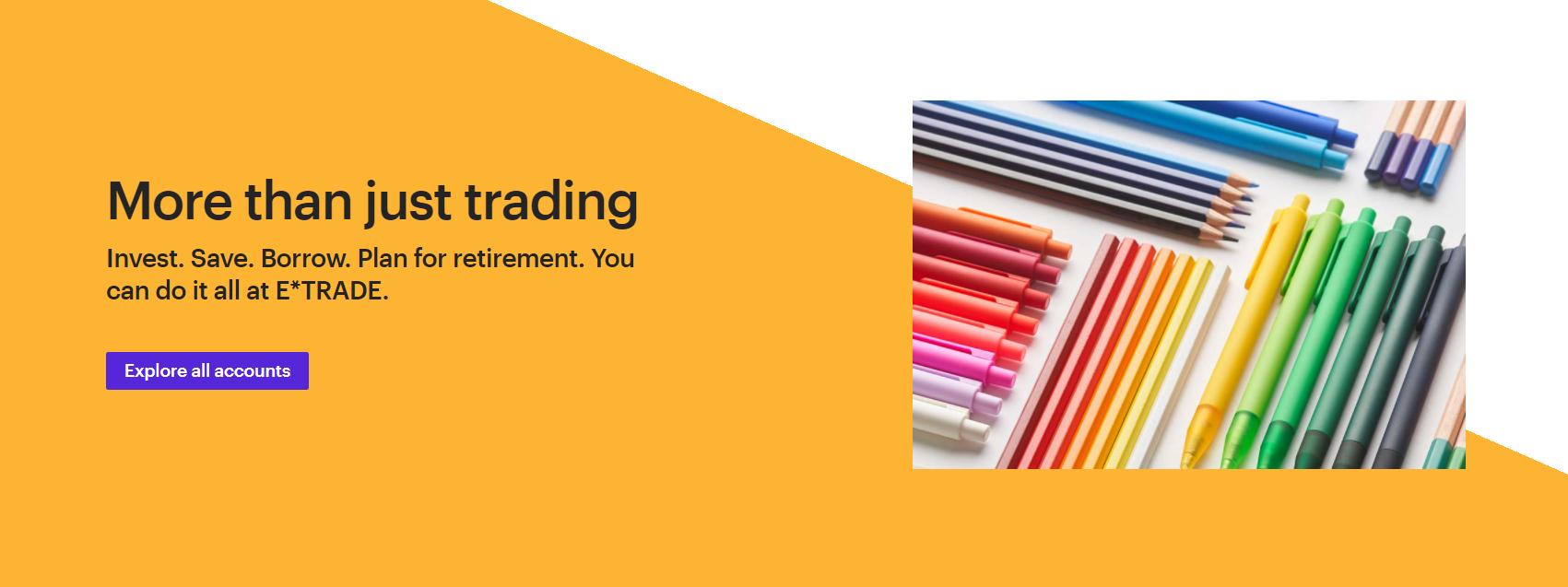 e*trade обзор деятельности компании