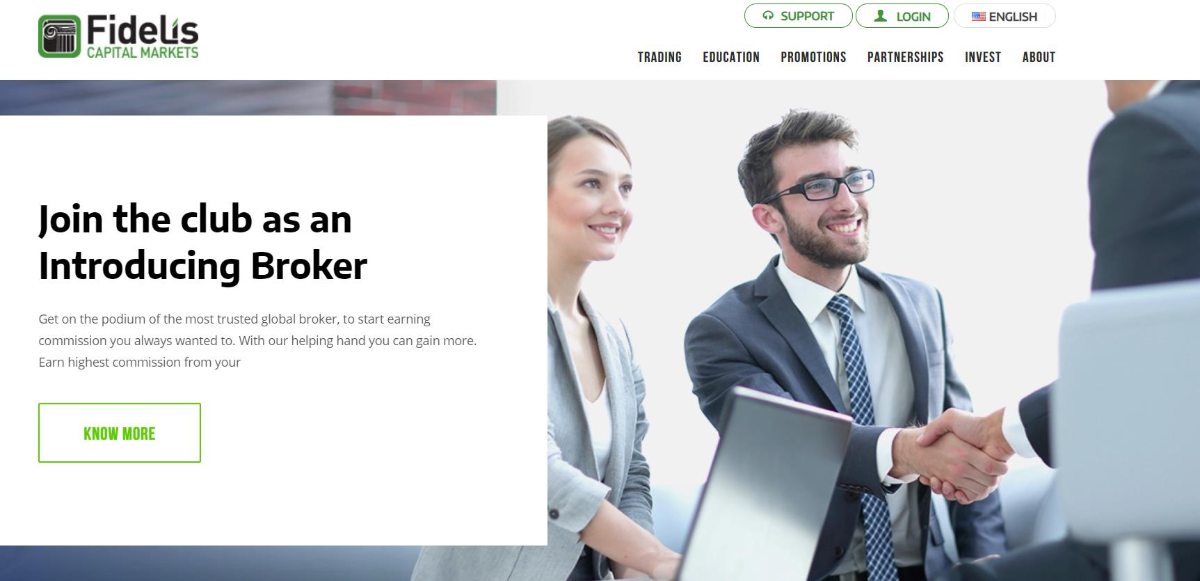 официальный сайт fidelis capital markets