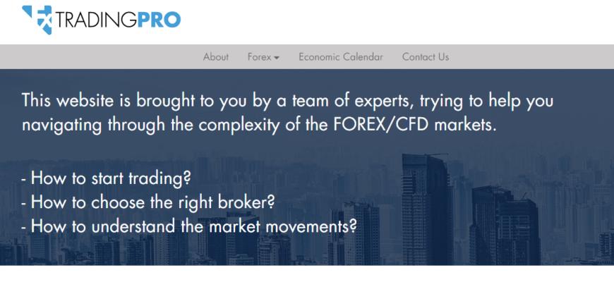 fx trading pro сайт компании